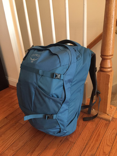 My Osprey Fairpoint 40 liter bag filled