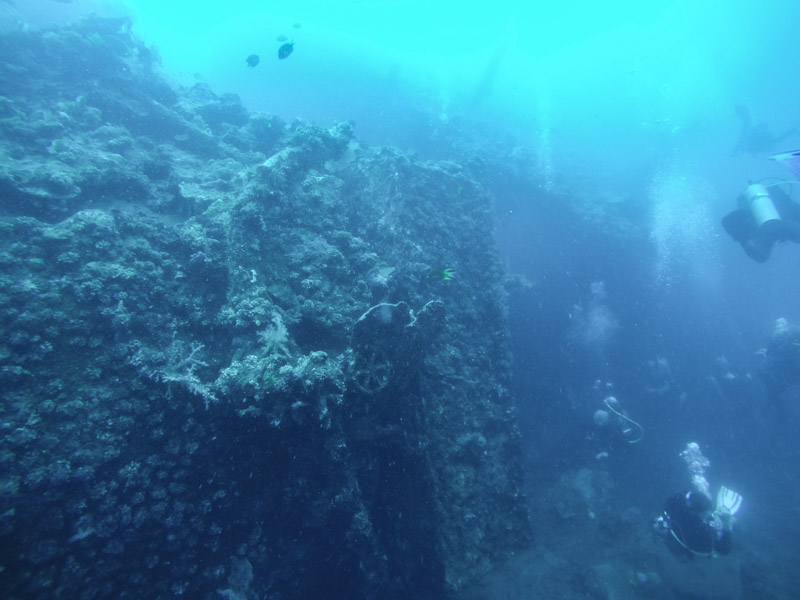 Divers At the Wreck