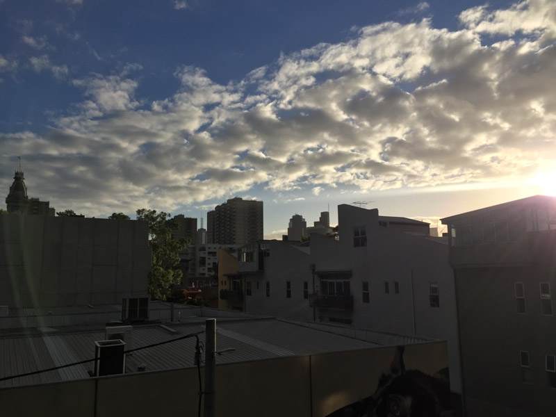 Sunset in Fitzroy